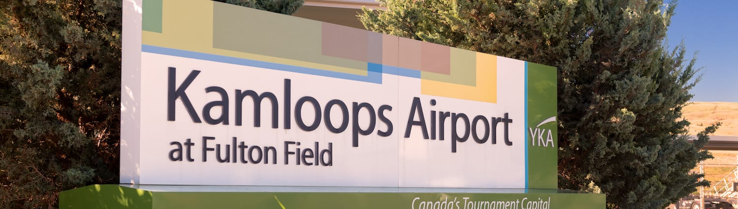 Kamloops Airport at Fulton Field Sign