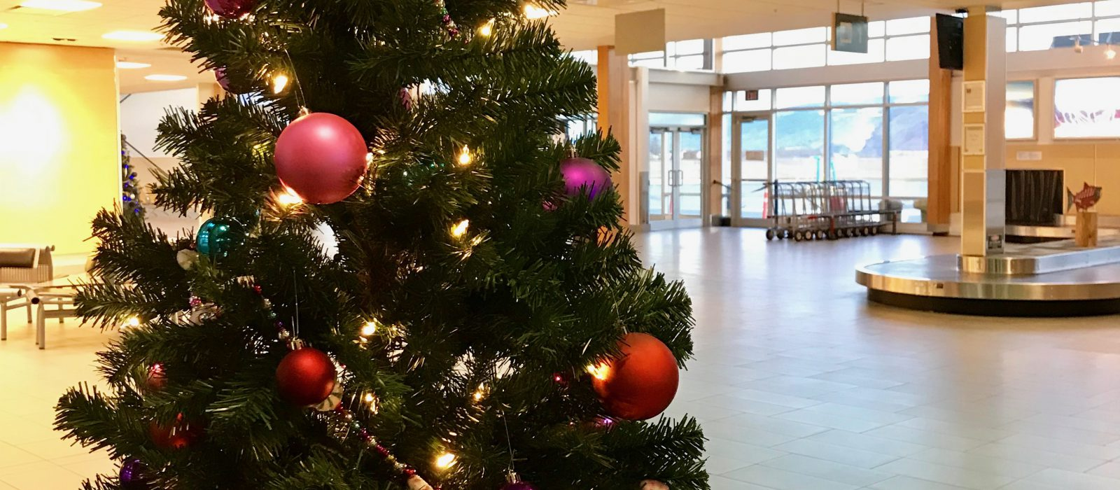 Christmas at the airport
