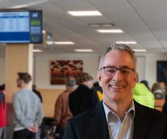 Ed Ratuski at the airport