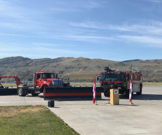 Trucks at airport